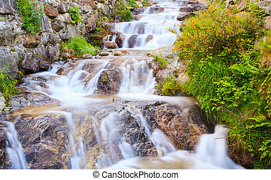 View of torrent in Arzo countryside, Verbania. italy