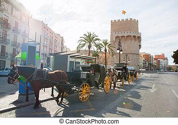 torres, 塔, de, serrano, 巴倫西亞, 西班牙