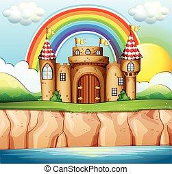 torres, campo, palacio