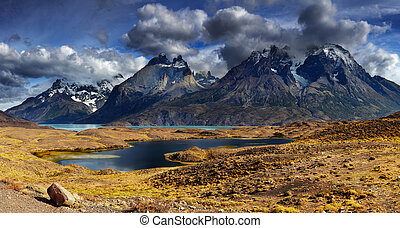 torres del paine, チリ