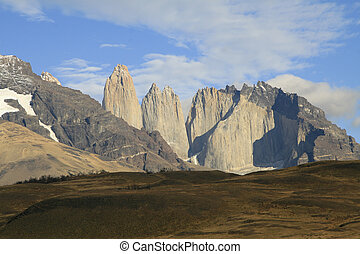 Torres del Paine landscape in Chilean Patagonia