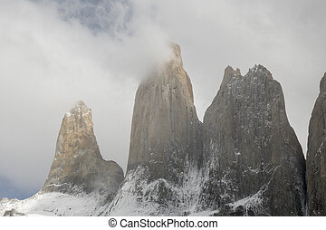 torres del paine mountain in chile
