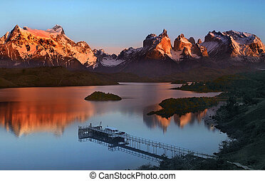 Torres del Paine National Park in Patagonia in Southern Chile