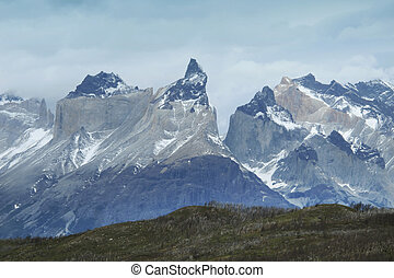 Torres del Paine peaks. Chile. South America. Horizontal...