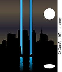 torres, gemelo, monumento conmemorativo