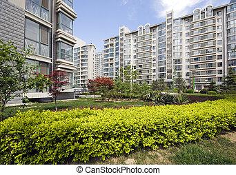 torres, moderno, condominio