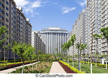 torres, modernos, condomínio