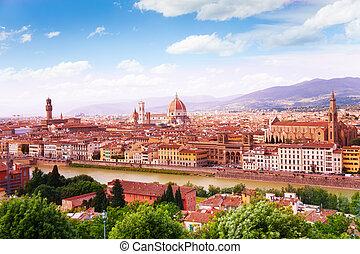 torres, río, florencia, catedrales