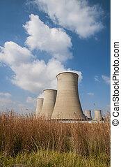 torres refrescantes, de, um, planta poder