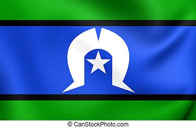 Torres Strait Islanders Flag. Close Up.
