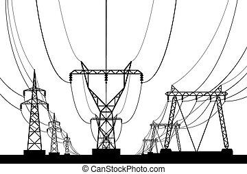 torres transmissão, elétrico