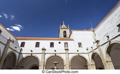 Torres Vedras Graca Monastery - View of the cloisters of the...