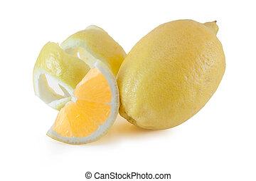 torsade, coupé, citron