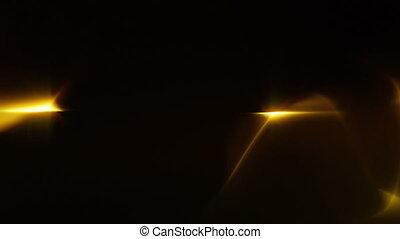 torsade, doré, lumière, vagues