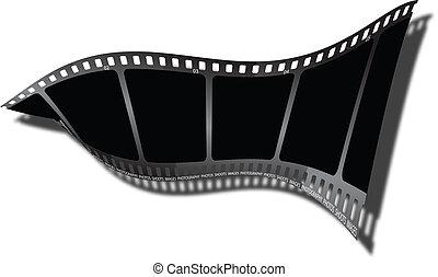 torsión, sombra, película
