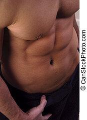 Torso - Close up of a muscular male torso