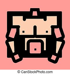 torso, spierballen, groep, mannelijke , pictogram