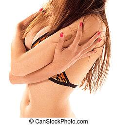 Torso - Woman\\\'s torso with hip and waist on white