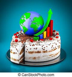 torta, analytic, finanza, affari