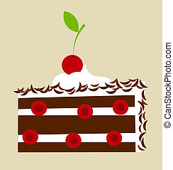 torta, black erdő