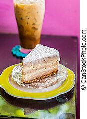 torta, caffè, ghiacciato