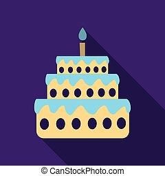 torta, candela, uno