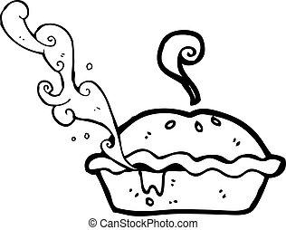 torta carne, caricatura