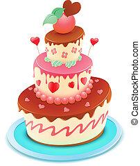 torta, cartone animato