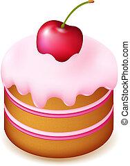torta, ciliegia, compleanno