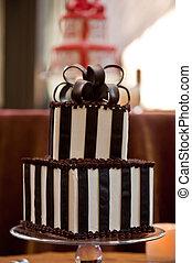 torta, cioccolato, matrimonio