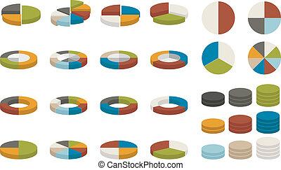 torta, coloridos, gráficos