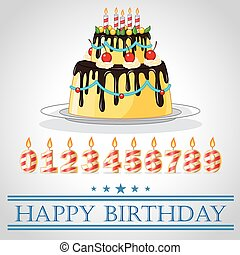 torta, compleanno, corona