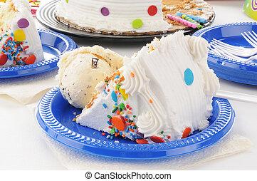 torta compleanno, e, gelato