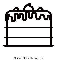 torta, compleanno, icona
