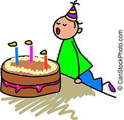 torta, compleanno, mio