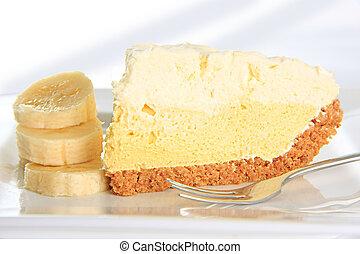torta crema, banana