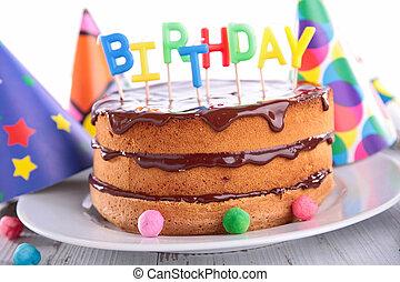 torta de chocolate, cumpleaños