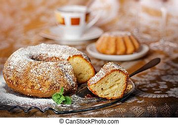 torta de esponja, anillo
