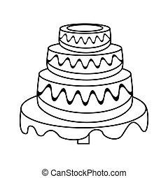 torta de la boda, postre, contorno