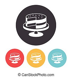 torta, dessert, icona