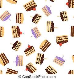 torta, fondo., pattern., seamless
