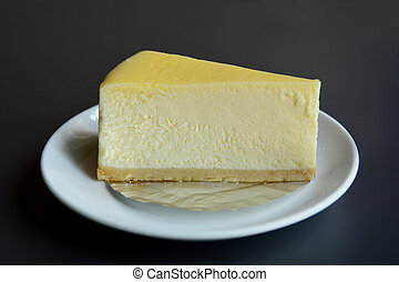 torta formaggio, fetta