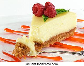 torta formaggio, morso