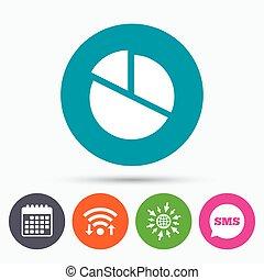torta, grafico, button., segno, diagramma, icon.