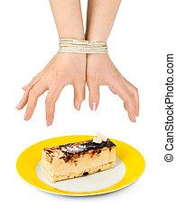 torta, határ, kézbesít