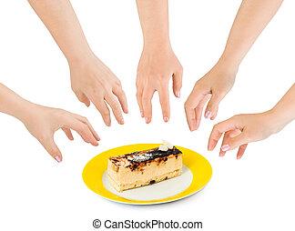 torta, kézbesít