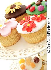 torta, kiválasztás, csésze
