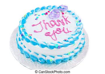 torta, lei, ringraziare