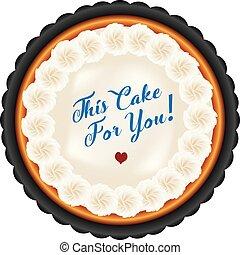 torta, meringa, crema