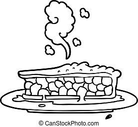 torta mirtilo, caricatura